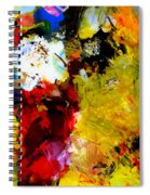 Palette Abstract Square Spiral Notebook