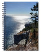 Palisade Head Lake Superior Minnesota Winter Afternoon Spiral Notebook