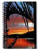 Palm Framed Sunset Spiral Notebook