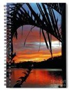Palm Framed Sunset Spiral Notebook