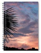 Palm Frond At Dusk Spiral Notebook