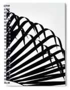 Palm Frond Black And White Spiral Notebook