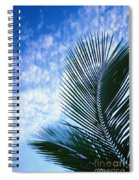 Palm Fronds And Clouds Spiral Notebook
