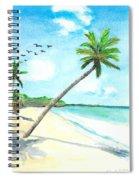 Palm Over Diani Beach Spiral Notebook