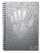 Palm Print On Wet Metal Surface Spiral Notebook