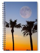 Palm Tree Full Moon Sunset Spiral Notebook