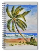 Palm Tree Ocean Scene Spiral Notebook