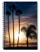 Palm Tree Sunset Silhouette Spiral Notebook
