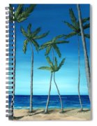 Palm Trees On Blue Spiral Notebook
