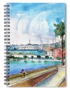 Palma De Mallorca Panoramic 01 Spiral Notebook
