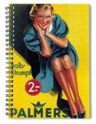 Palmers - Halb-strumpf - Vintage Germany Advertising Poster Spiral Notebook