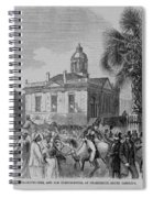 Palmetto Tree And Old Custom House Spiral Notebook