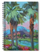 Palms And Coral Mountain Spiral Notebook