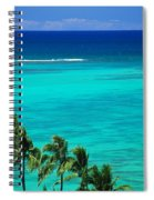 Palms And Ocean Spiral Notebook
