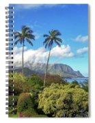 Palms At Hanalei Spiral Notebook