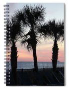 Palms At Sunset  Spiral Notebook