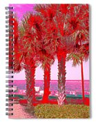 Palms In Red Spiral Notebook