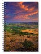 Palouse Skies Ablaze Spiral Notebook