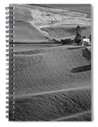Palouse - Washington - Farms - 6 - Bw Spiral Notebook