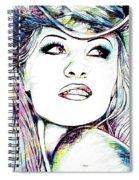 Pamela  Anderson Portrait Spiral Notebook