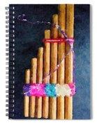 Pan Flute Spiral Notebook