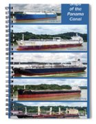 Panama Canal Cargo Ships Spiral Notebook