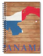 Panama Rustic Map On Wood Spiral Notebook