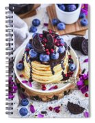 Pancakes With Chocolate Sauce Spiral Notebook