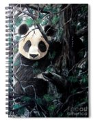 Panda In Tree Spiral Notebook