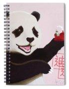 Panda Joy Pink Spiral Notebook