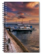 Pandanon Island Sunset Spiral Notebook