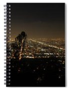 Pano From Griffeth Observatory  Spiral Notebook