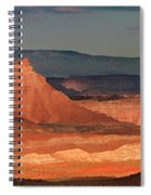 Panorama Dawn Light On The San Rafael Swell Utah Spiral Notebook