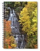 Panorama Fall Color Chapel Falls Upper Penninsula Mi Spiral Notebook