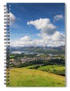 Panorama Of Keswick And Lake Derwent Water Panorama From Latrigg Spiral Notebook