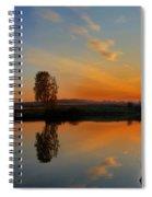 Panorama Of Sunset Spiral Notebook