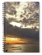 Panorama Of The Sunset In Caesarea Spiral Notebook