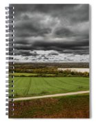 Panorama Of Wakefield's Fields Spiral Notebook