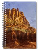 Panorama The Castle On A Cloudy Morning Capitol Reef National Park Spiral Notebook