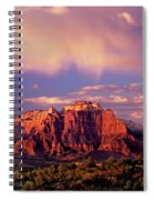 Panorama West Temple At Sunset Zion Natonal Park Spiral Notebook