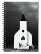 Panoramic Lightning Storm And Prairie Church 2 Spiral Notebook