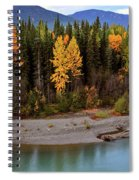 Panoramic Northern River Spiral Notebook
