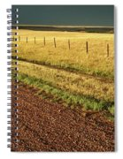 Panoramic Prairie Storm Canada At Sunset Spiral Notebook
