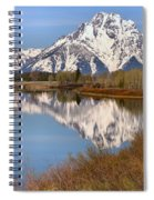 Panoramic Reflections At Oxbow Spiral Notebook