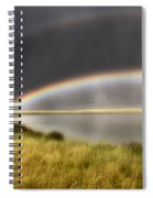 Panoramic Storm In The Marshes Spiral Notebook