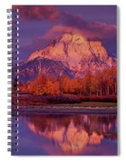 Panoramic Sunrise Oxbow Bend Grand Tetons National Park Spiral Notebook
