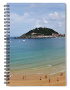 Panoramic View Of Beautiful Beach, San Sebastian, Spain  Spiral Notebook