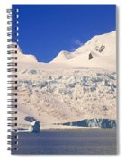 Panoramic View Of Glaciers And Iceberg Spiral Notebook