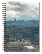 Panoramic View Of Old Jerusalem City Spiral Notebook