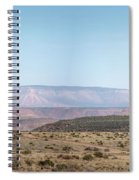 Panoramic View Of Open Desert Field In Nevada With Grand Canyon  Spiral Notebook